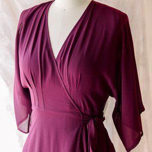 Kimono Sleeve Maxi Wrap Dress